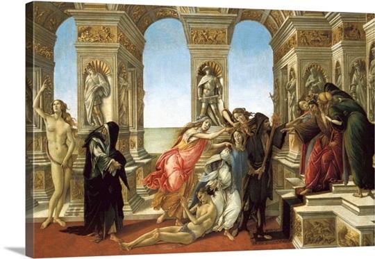 The Calumny Of Apelles Photo Canvas Print Great Big Canvas