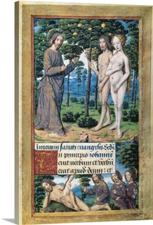 The Creation of Adam and Eve from the Book of Hours