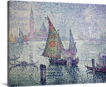 The Green Sail, Venice. 1904. By Paul Signac. Orsay Museum. Paris, France