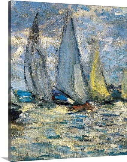 the regatta at argenteuil photo canvas print great big canvas. Black Bedroom Furniture Sets. Home Design Ideas