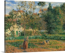 Vegetable Garden at the Hermitage, Pontoise, by Camille Pissarro, 1879