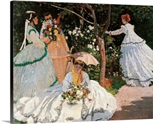 Women In The Garden, 1866-1867. Musee D'Orsay, Paris, France. Detail
