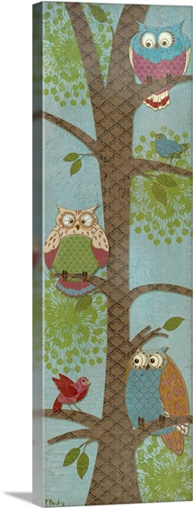 Fantasy Owls Panel II