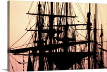 Tall Ships at Sunset 1