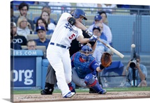 2016 MLB Playoffs: Corey Seager #5 of Los Angeles Dodgers singles in the first inning