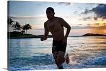 25 year old Hispanic triathlete after swim