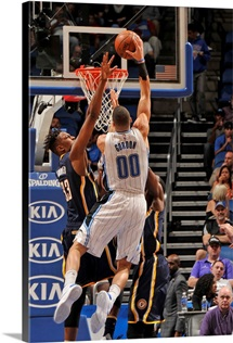 Aaron Gordon of the Orlando Magic goes for the dunk during the game
