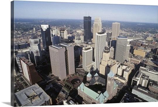 Aerial View Of Downtown Minneapolis Minnesota Photo