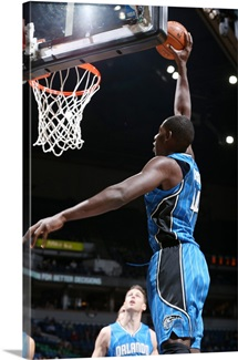 Andrew Nicholson of the Orlando Magic goes up for a dunk