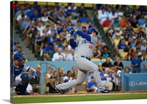 Anthony Rizzo of the Chicago Cubs bats in the fourth inning during the MLB game