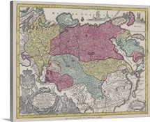 Antique map of Eurasia