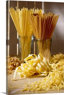 Assorted pasta, close-up