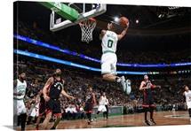 Avery Bradley of the Boston Celtics goes to the basket against the Toronto Raptors