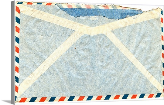 back of vintage airmail envelope