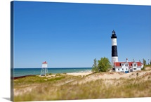 Big Sauble Point Lighthouse on Lake Michigan, best of Great Lakes.