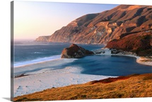 Big Sur beach at sunset, California