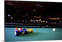 Billiards balls on table