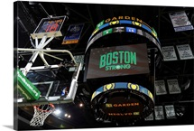 Boston Strong on the Big Screen during the Boston Celtics game