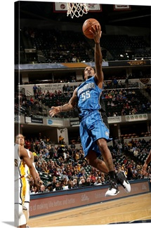 Brandon Jennings of the Orlando Magic goes for the layup during the game