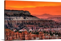 Bryce Canyon at sunrise, with characteristic hoodoos and rock formations