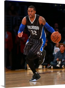 C.J. Watson of the Orlando Magic dribbles the ball on the fastbreak