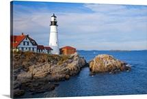 Cape Elizabeth lighthouse, Maine, New England