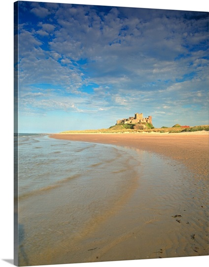 Castle by the beach, Bamburgh, Northumberland, England.
