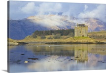 Castle Stalker situated on an island in Loch Laich, Appin, Argyll