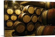 Cellar of barrels