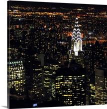 Chrysler Building at night, New York City.