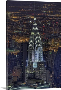 Chrysler Building at night, US.