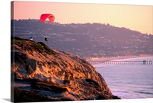 Cliff and pier, San Diego, California