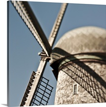 close up of a Dutch windmill.
