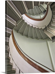 Close up of revolving stairs.