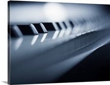 Closeup Detail of Piano Keys