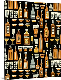 Cocktails and Liquor Bottle Pattern