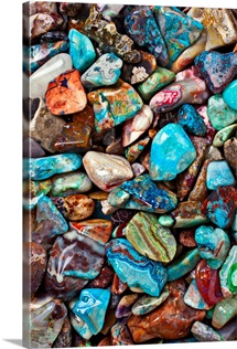 Colored polished stones