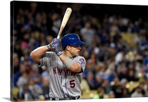 David Wright of the Los Angeles Dodgers bats against the New York Mets