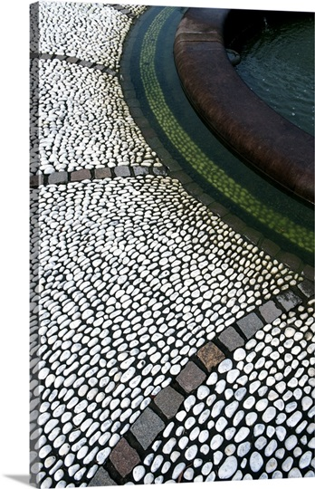 Decorative cobbled paving, National Botanical Garden of Wales, Llanarthne