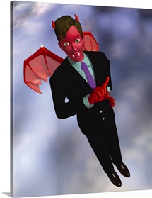 Devil in Suit, CG, 3D, Illustration