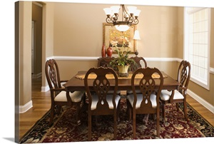 Dining Room Photo Canvas Print Great Big Canvas