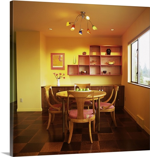 Dining Room Interior Photo Canvas Print Great Big Canvas