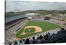 Dodger Stadium during a game between the Atlanta Braves and the Los Angeles Dodgers