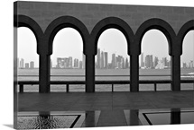 Doha skyline from museum of Islamic Art.