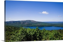 Elevated view of Eagle Lake, Acadia National Park.