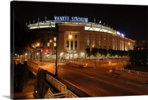 Exterior of the Yankee Stadium in the evening, 2012