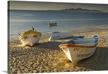 Fishing boats on the beach, Mexico, Baja California, San Felipe