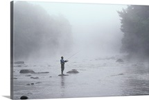 Fly fishing morning, CT