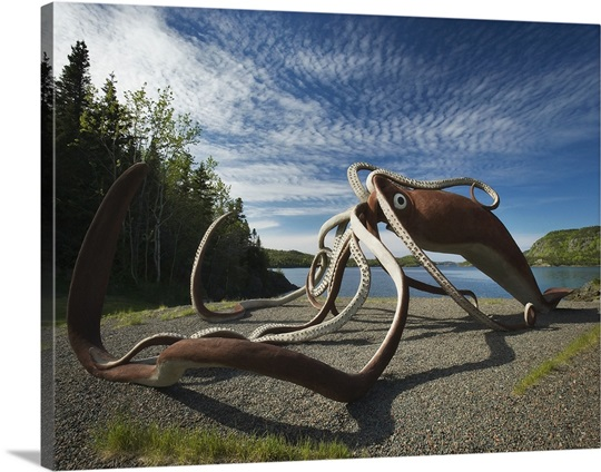 Giant Squid Sculpture Glover S Harbour Newfoundland And