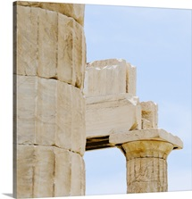 Greece, Athens, Acropolis, Doric columns of Propylaea